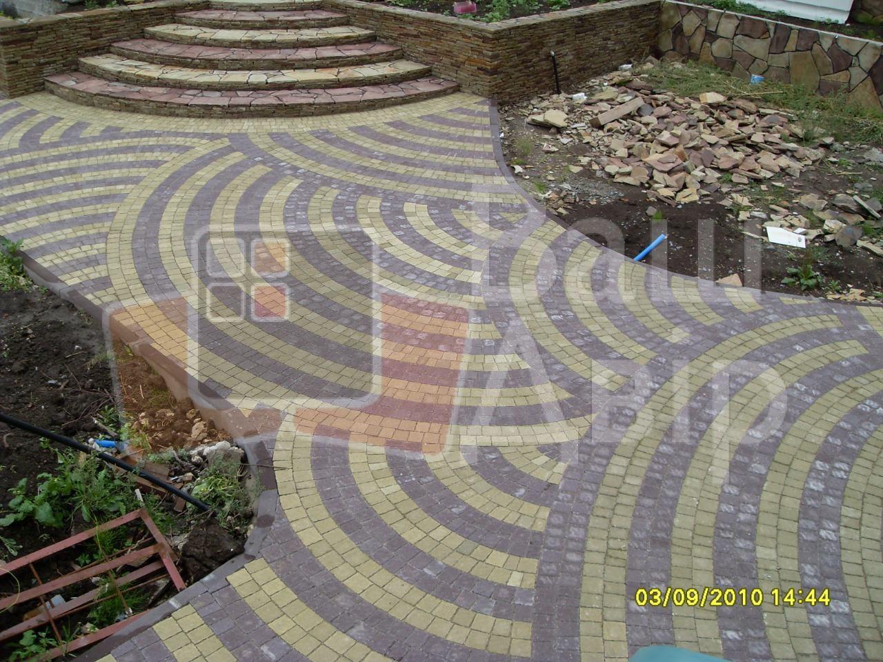 мощення доріщок і дворів з тротуарної плитки